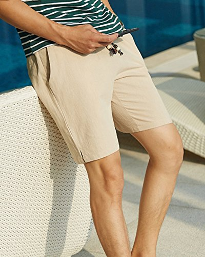 Bermuda Chino Larghi Laozana Baggy Tasconi Cachi Mare Casual Shorts Pantaloncini Uomo Con txtwd6H