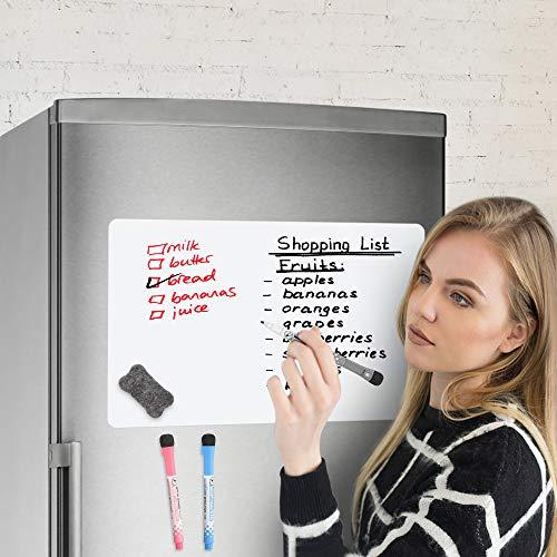Magnetic Dry Erase Whiteboard for Fridge - 18x1...
