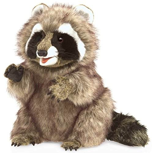 - Folkmanis Raccoon Hand Puppet Plush