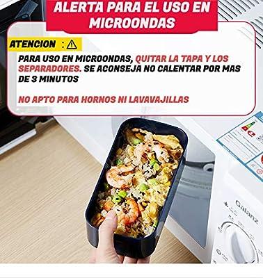 INARI BENTO JAPONES Fiambrera Pack con Bolsa TERMICA PORTALIMENTOS ...