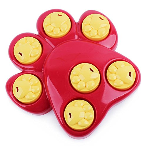 Envunt(TM) Multifunction Pet Dog Bowl Feeder 7 Holes Dog Paw Educational Toys Puppy Cat Food Puzzle Toys by Envunt