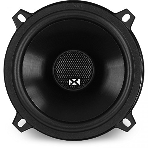 (NVX 5 1/4 inch True 80 watt RMS 2-Way Coaxial Car Speakers [V-Series] with Silk Dome Tweeters, Set of 2 [VSP525])
