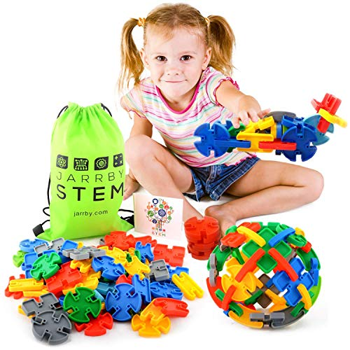 Jarrby Montessori Toys for Toddlers - Magna Bricks - Sensory Toys for Autistic Children - Best Therapy STEM / STEAM Toys for Boys and Girls]()