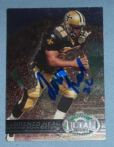 Lorenzo Neal Signed 1997 Metal Universe Saints Football Card #67 Autograph Titan - NFL Autographed Football Cards ()