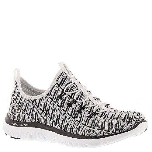 Skechers Frauen Flex Appeal 2.0 Insight Sneaker Weiß schwarz