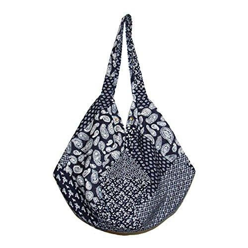 Funbase Travel Shoulder Hobo Bohemian Women Bag Bucket Cotton 6 Large Beach Bag r1xrnYz