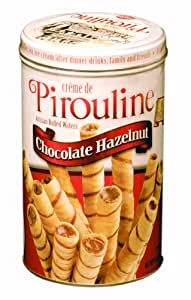 Pirouline Rolled Wafers, Chocolate Hazelnut, 14-Ounce Tins (Pack of 6)
