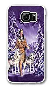 Eyes Native American Polycarbonate Hard Case Cover for Samsung S6/Samsung Galaxy S6 Transparent