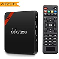 Android 7.1 Tv Box, Dolamee D3 2GB RAM 8GB ROM Amlogic 4K Tv Box Support UHD H.265 Wifi Media Player