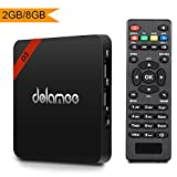 Android 7.1 Tv Box Dolamee D3 2GB RAM 8GB ROM Amlogic Quad Core 4K Tv Box Support UHD H.265 Wifi Media Player