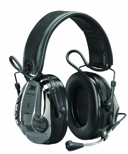 3M Peltor WS 5 Communications Headset MT16H21FWS5UM581, 20 dB Noise Reduction, Black/Chrome