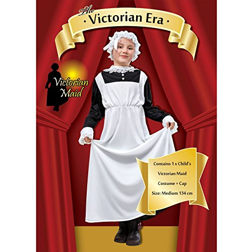 Girls Victorian Maid Book Day Week Child Fancy Dress Costume Outfit