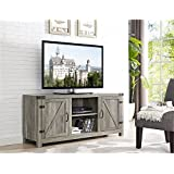 WE Furniture W58BDSDGW Barn Door TV Stand