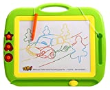Holy Stone Magnetic Drawing Colorful Erasable Board Large Size Doodle Sketch Kids Educational Toys with Three Stamper Color Green For Boys/Girls