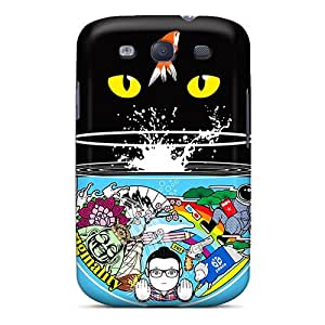 Defender Case For Galaxy S3, Cat Eyes Pattern