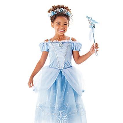 iBaste Disfraz de Vestido Infantil de Princesa para Fiesta Carnaval Halloween Cosplay Cumpleaños para Niñas,