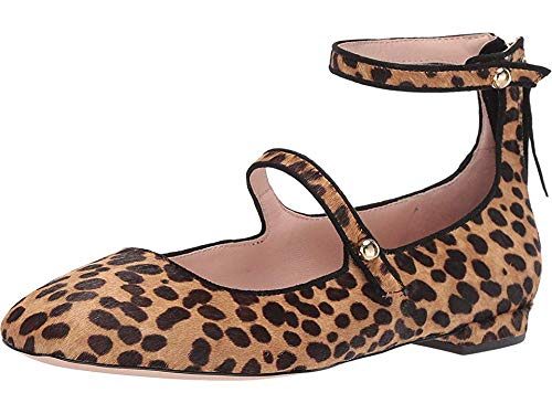 J.Crew Women's Poppy Ballet Flats in Two-Straps Sahara Brown 7 B US