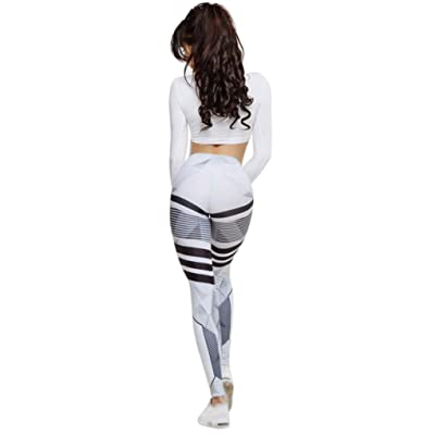 Kanzd Women High Waist Yoga Fitness Leggings Running Gym Stretch Sports Yoga Pants Casual Trousers