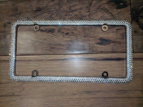 Genuine Swarovski License Plate Frame - Crystal Clear -  Sparkle Couture by Chloe