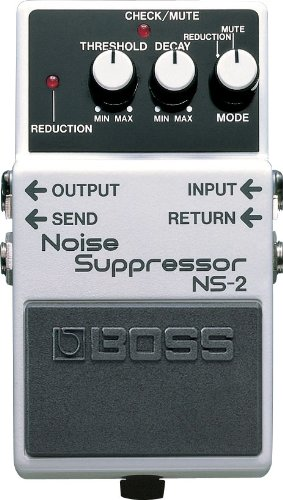 Boss NS-2 Noise Suppressor Effects Pedal –INCLUDES– Blucoil Power Supply Slim AC/DC Adapter for 9 Volt DC 670mA AND 4 Pack of Guitar Picks by blucoil (Image #1)