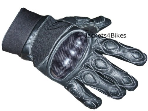 Men's Carbon Fiber Motorcycle Motorbike Cycling Racing Full Finger Gloves