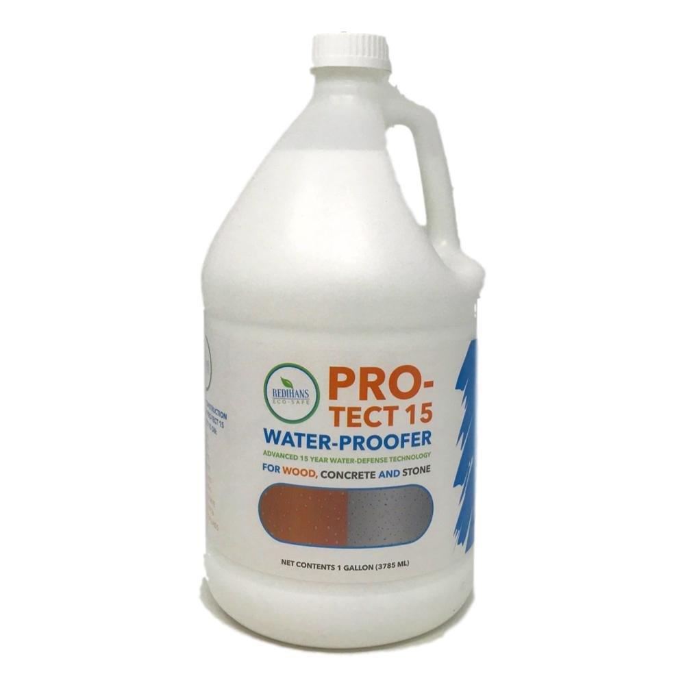 Wash Safe Industries, Pro-Tect 15, Wood, Concrete, and Stone Waterproofer, 1 gal Bottle