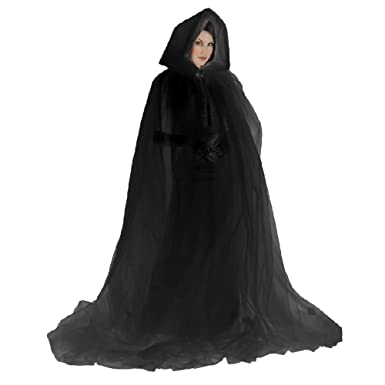 Amazon.com  Ghost Costume Cape Adult Hooded Cloak Gothic Scary Halloween  Fancy Dress  Clothing fdcf41c8a