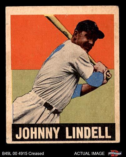 - 1948 Leaf # 82 Johnny Lindell New York Yankees (Baseball Card) Dean's Cards 3 - VG Yankees