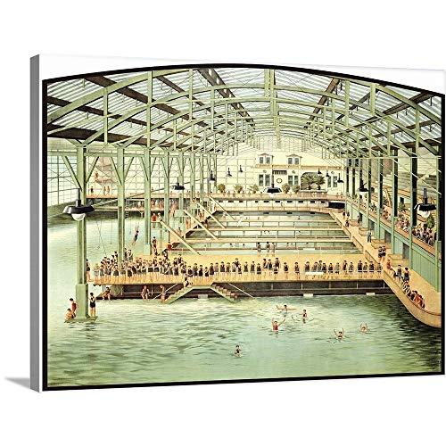 (Sutro Bath House San Francisco Vintage Advertising Poster Canvas Wall Art Print, 40