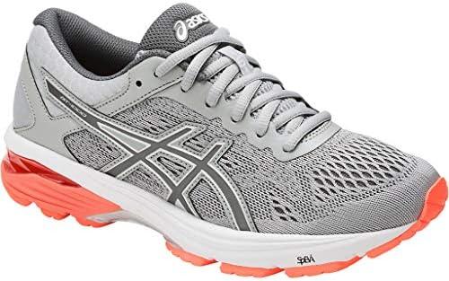 ASICS - Frauen Gt-1000 6 Schuhe, 37.5 EU, Mid Grey/Carbon/Flash Coral
