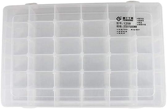 1250 1216 1207 Caja de herramientas de plástico transparente caja de herramientas componentes electrónicos caja de almacenamiento de tornillos electrónica piezas de plástico cajas de herramientas: Amazon.es: Bricolaje y herramientas