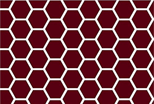 Made In USA Sheet SheetWorld Fitted Pack N Play Graco Square Playard Burgundy Honeycomb