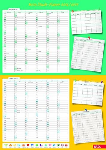 Mein Studi-Planer: A1-Poster für Wintersemester 2016/17 und Sommersemester 2017