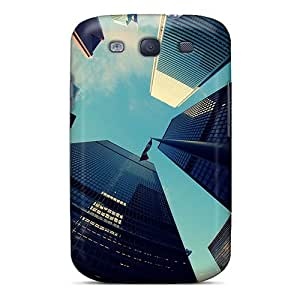 New Fisheye View Of Skyscrapers Tpu Case Cover, Anti-scratch EQdpZ4133sBhOi Phone Case For Galaxy S3