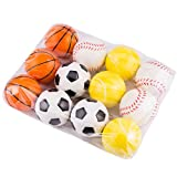 XRDSS kids toys Mini Sports Stress Balls Basketballs Fun Gift 12-pack (12 mix and match)