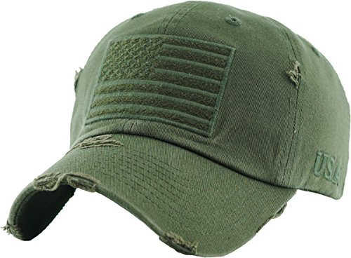 (KBVT-209 OLV Tactical Operator with USA Flag Patch US Army Military Baseball Cap Adjustable)