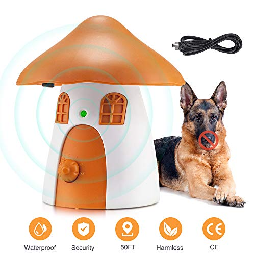 Anti Dog Barking Device, Ultrasonic Stop Dogs Barking Deterrent Anti-Bark Dog Training Control Stopper with 50 FT…