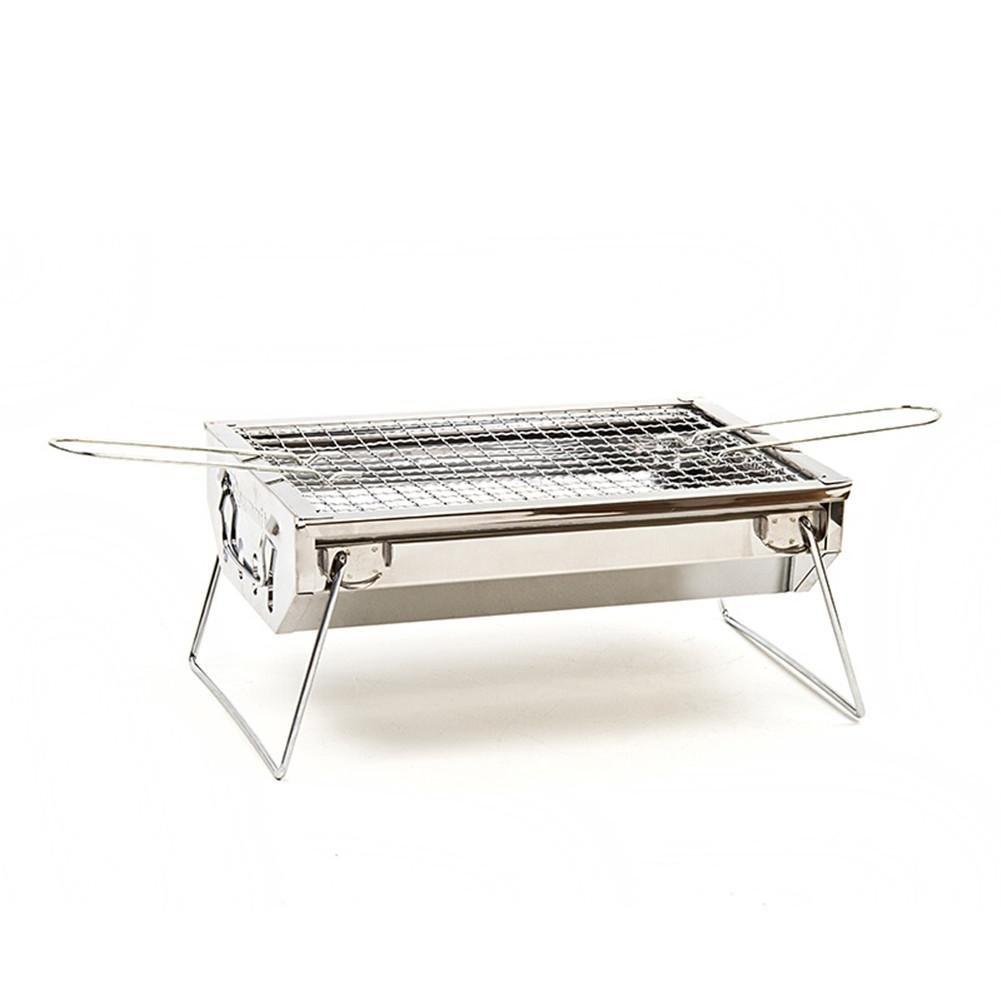 HomJo Barbacoa grill Camping exterior portátil de acero ...