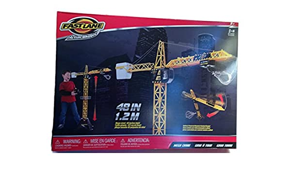 Fast Lane Mega Crane - Crane Only by Toys R Us: Amazon.es: Juguetes y juegos