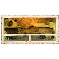 Tamaño grande de madera interior Reptile Vivarium terrario 100 x 50 x 50 cm fácil instalación de ventilación lateral 39…