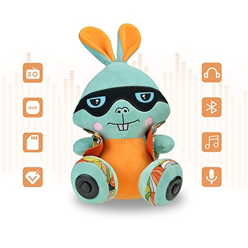 CALEEO Portable Bluetooth Speaker Funny rabbit with Built-in-Mic,Handsfree Call,AUX Line,TF Card,HD Sound and Bass for Iphone Ipad Android Smartphone (Bunny2) by CALEEO
