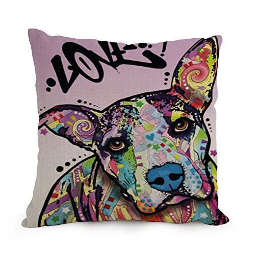 Slimmingpiggy Comfortable Bedding Color Spotted Dog 20X20 Inch Pillow Case