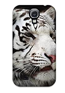 Awesome JGMBkdY8453QLeJB AndrewTeresaCorbitt Defender Tpu Hard Case Cover For Galaxy S4- White Bengal Tiger