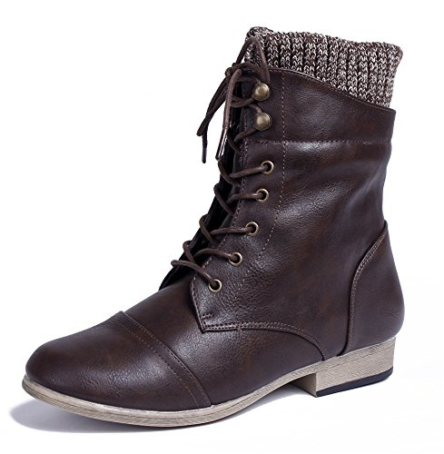Halbschaft AgeeMi Shoes Stiefel Stiefel Schnürsenkel Absatz Niedriger Damen Bxfw8BqP
