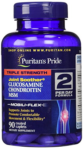 Puritan's Pride 2 Pack of Triple Strength Glucosamine, Chondroitin & MSM Joint Soother Puritan's Pride Triple Strength Glucosamine, Chondroitin & MSM Joint Soother-90 Caplets Review
