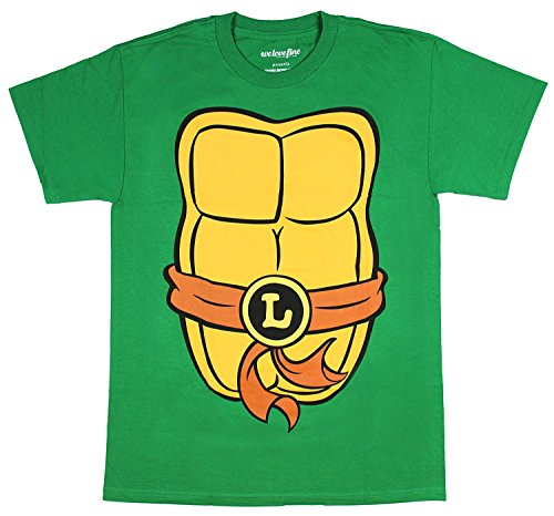 Teenage Mutant Ninja Turtles Adult Costume T-Shirt - Leo Brown (Large)