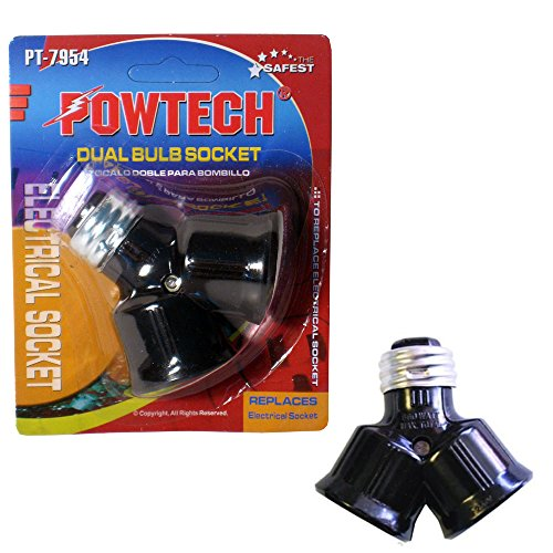 "New Dual Bulb Socket Double Light ""Y"" Adaptor Convert Conver"