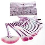 UltiSmart(TM)New 24pcs/pack Pink Makeup Brushes Set Cosmetic make up Concealer Foundation Eyeliner Base Brush Love Bag
