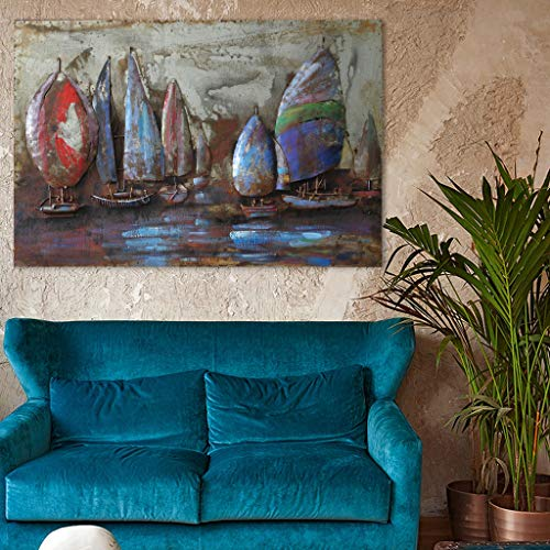 Empire Art Direct ''The Regatta 2'' Mixed Media Hand Painted Iron Wall Sculpture by Primo by Empire Art Direct (Image #1)