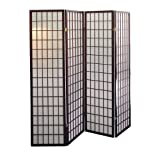 ORE International R566-4 4-Panel Room Divider, Cherry